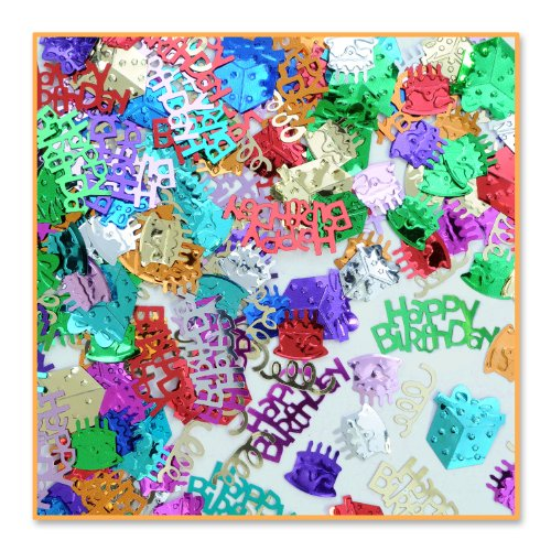 Birthday Bash Confetti (Pack of 96) by Beistle