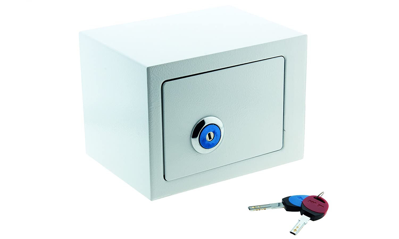 Eglemtek - Caja fuerte empotrable, de acero pintado, con llave: Amazon.es: Industria, empresas y ciencia