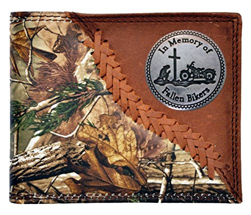 Long Camo Checkbook Badger Bikers Brown Custom Wallet New AP Fallen Realtree x8PIxgqw