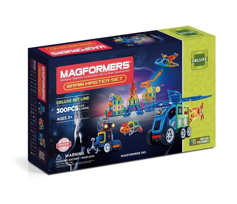 Magformers Brain Master (300 Piece) Building Set, Rainbow