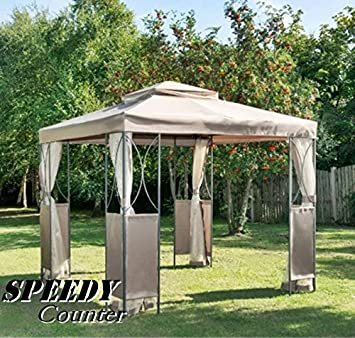 Scotrade Luxe extérieur étanche kiosque de jardin en acier ...