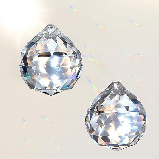 MerryNine Prism Balls Suncatcher for Ceiling Lighting Chandelier Hanging Decorating PrismBall-50