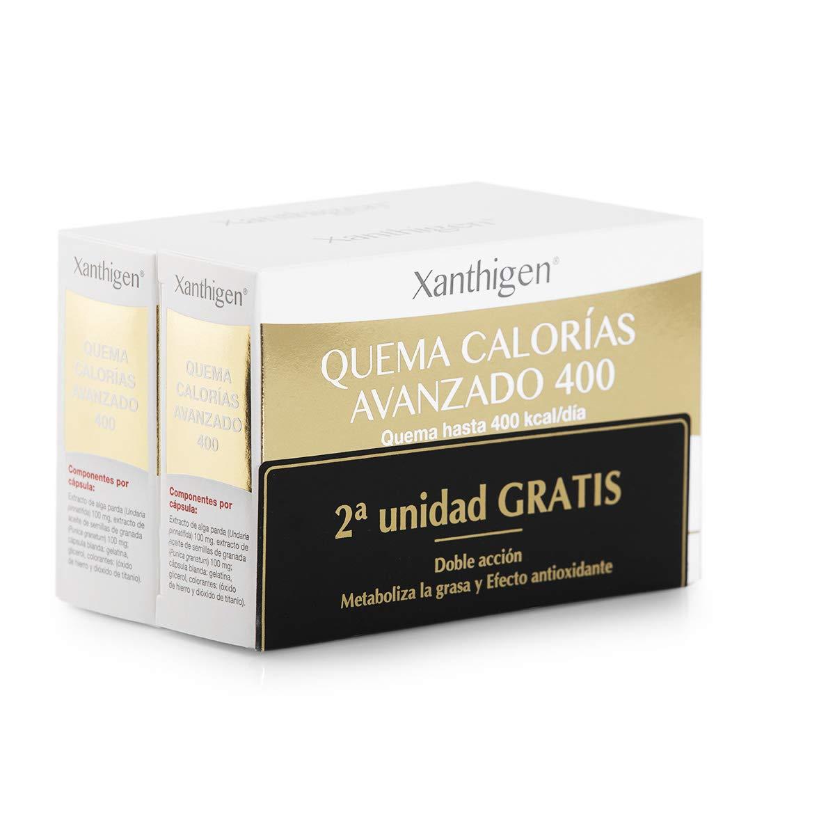 XL-S Medical Xanthigen Quema Calorías Avanzado 400, Quema 400 Kilocalorías al Día, Cápsulas Adelgazantes con Efecto Antioxidante - Pack 2 x 90 ...