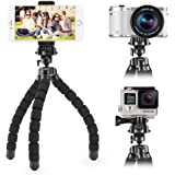 Smartphone Flexible Tripod iKross Compact Tripod Stand Mount Holder with Adapters for Smartphone, iPhone/Digital Camera/GoPro Hero All Version