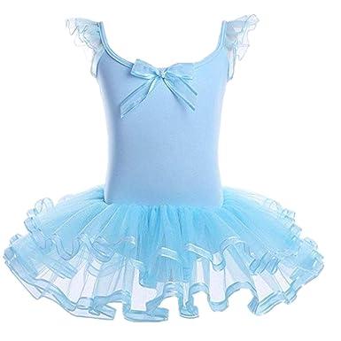 YiZYiF Vestido Ballet Clásico Niñas Maillot Tutú Danza con ...