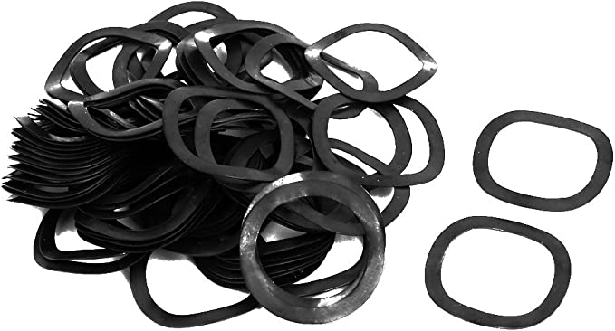 25mm Inner Dia 31mm Outer Dia 0.4mm Thickness Compression Type Wave Washer 80pcs