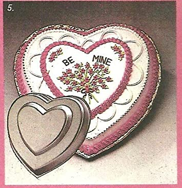 Wilton Double Tier Heart Two Tier Cake Pan 502-2695, 1982 Retired Collectible