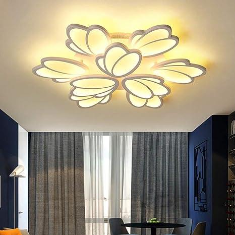 Moderno lámpara de techo con Control Remoto LED redondo ...