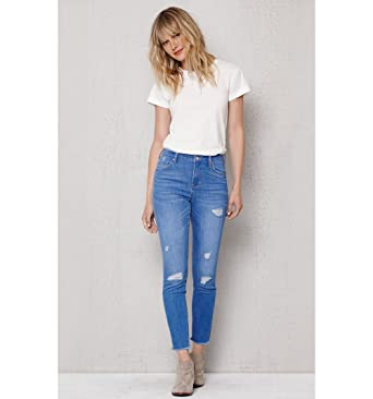 Image Unavailable. Image not available for. Color  Pacsun Womens Kimberley Blue  Ripped High Rise Skinny Ankle Jeans d1cec87331