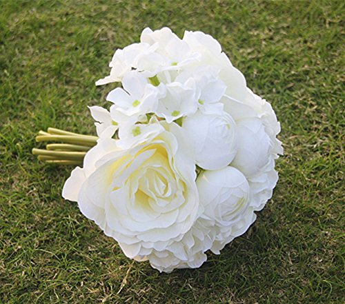MagiDeal Artificial Hydrangea Bridesmaid Bouquet
