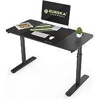 EUREKA ERGONOMIC Computer Desk Mechanical Height Adjustable PC Desk 47 inch Study Desk for Home Office Black