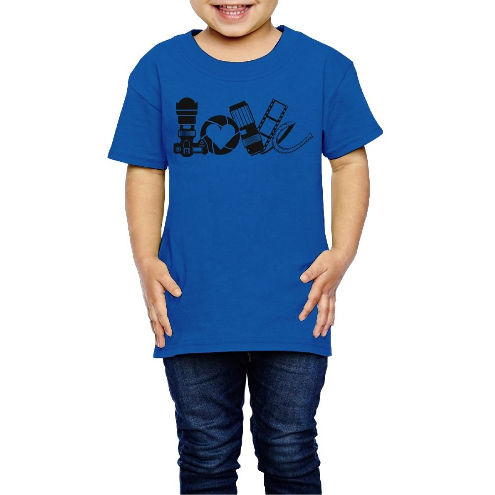 Yishuo Boys Photography Love /& Develop Mug Fashion Sports T Shirts Short Sleeve RoyalBlue 3 Toddler