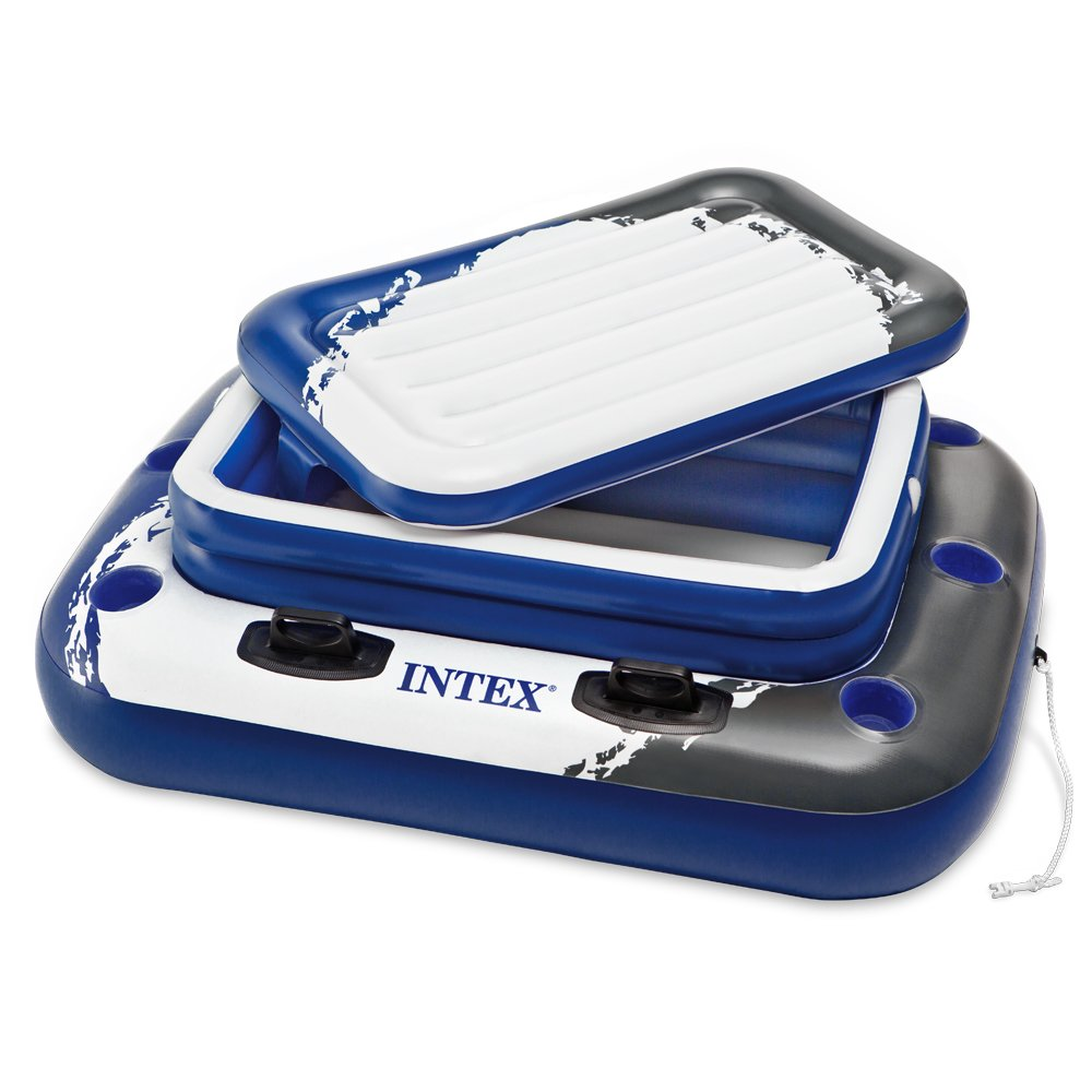 "Intex Mega Chill II, Inflatable Floating Cooler, 48"" X 38"""
