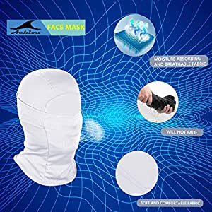 Achiou Balaclava Face Mask UV Protection for Men Women Ski Sun Hood Tactical Masks