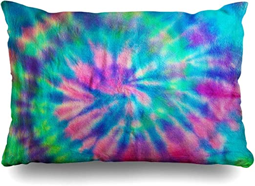 Pink Set of 2 Tie Dye Pillowcases • Custom Made Tie Dye Pillowcase Set • Blue