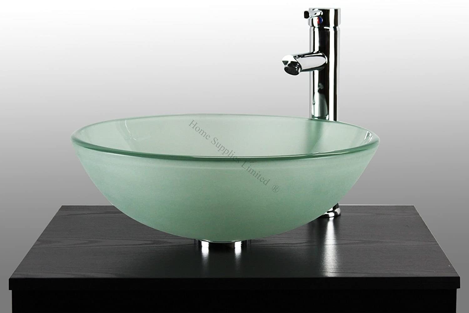 BATHROOM CLOAKROOM COUNTERTOP FROSTED GLASS BOWL BASIN SINK + TAP + POP UP  WASTE + CHROME BOTTLE TRAP: Amazon.co.uk: Kitchen U0026 Home Part 64