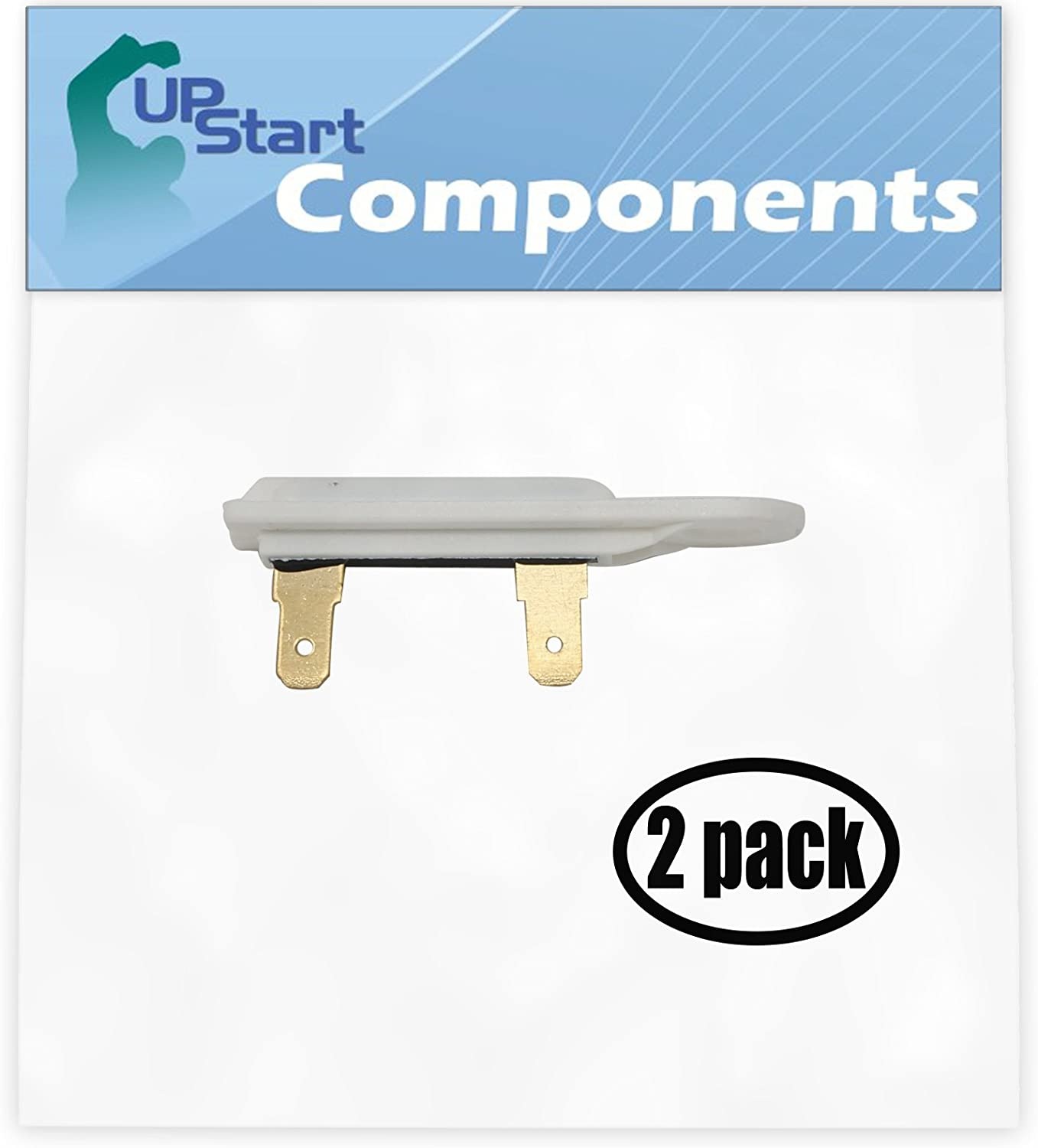 2 Pack Dryer Thermal Fuse 3388651, 3392519, 694511, 80005, WP3392519VP Replacement for Whirlpool LGR4634JQ0 Residential Gas Dryer