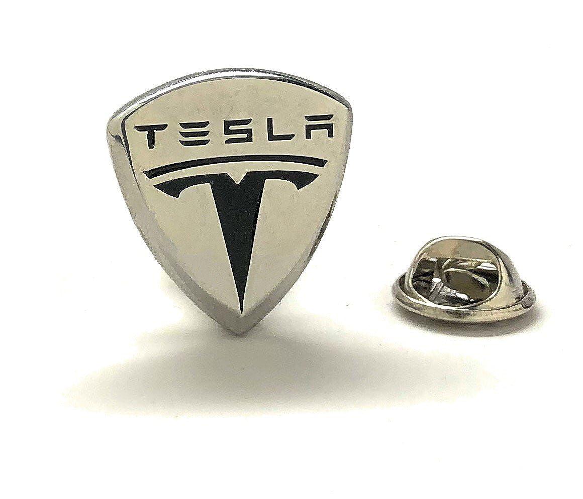 Williams Clark Men's Executive Lapel Pin Tesla Logo Automobile Famous Car Lapel Pin Tie Tac Williams and Clark