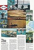 1966 Vintage Magazine Travel Advertisement Go With Grace