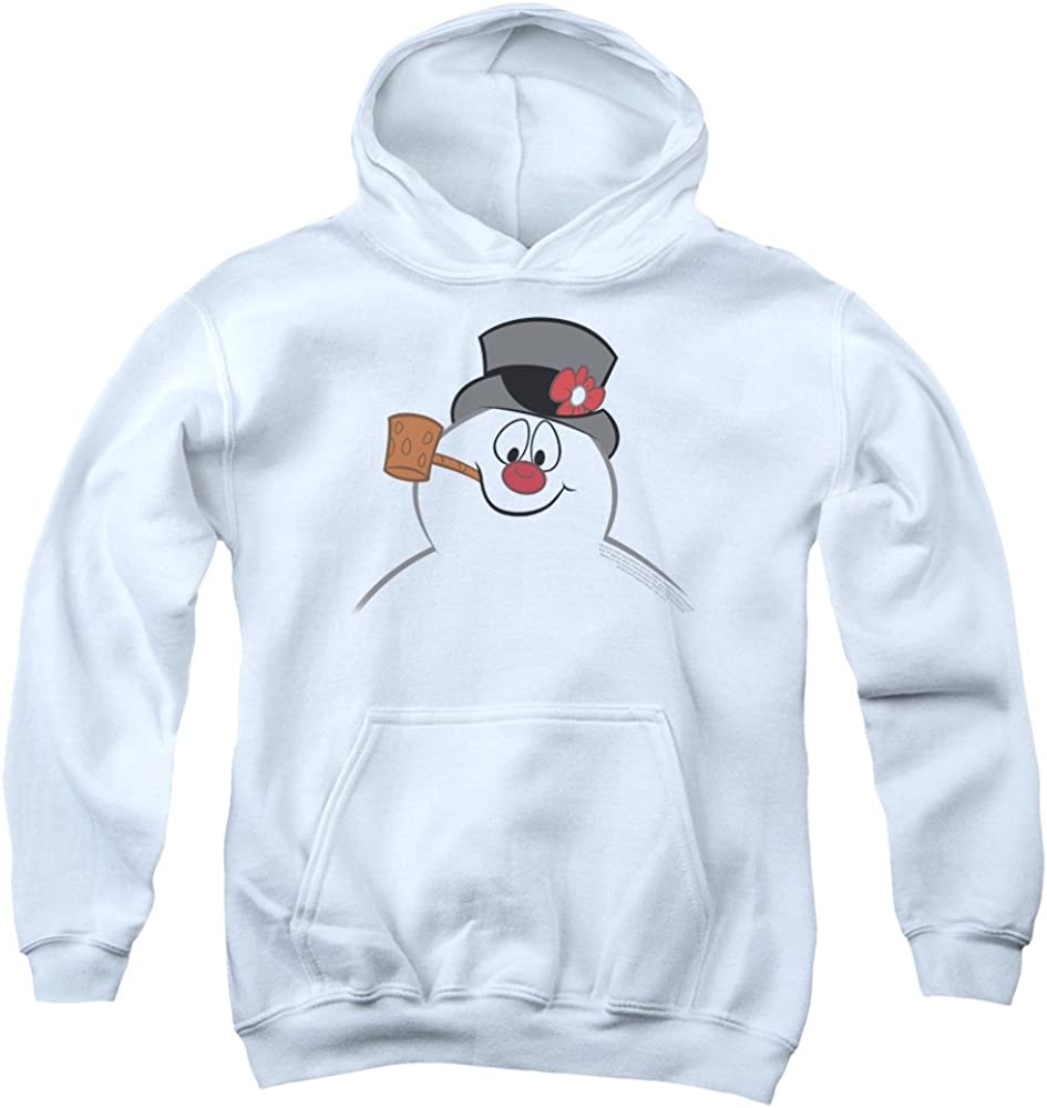 Smiling Snowman Face Unisex Pullover Hoodie