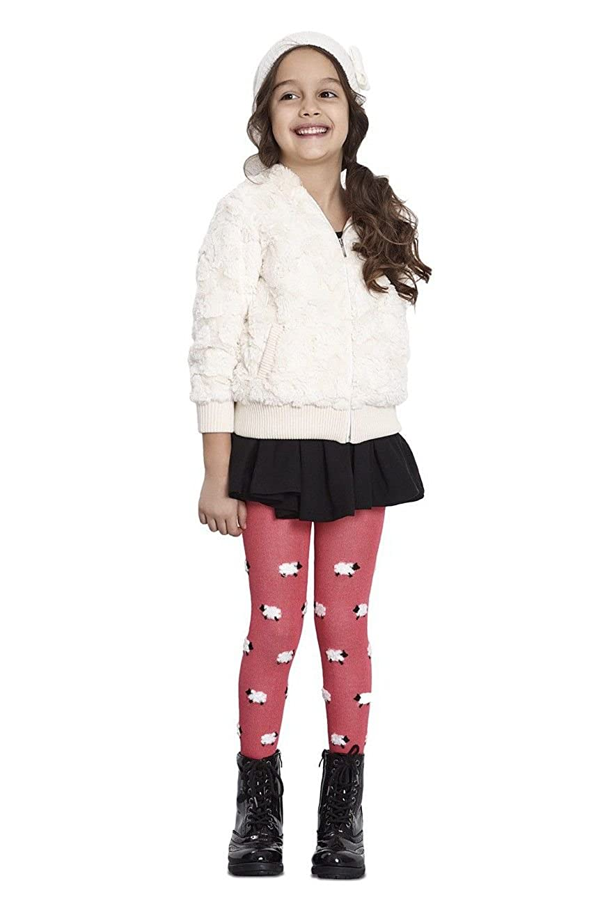 Lamb Tricot Printed Luxury Fashion Kids Tights for Girls