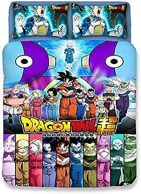 Bulk 3D Dragonball Z Goku Algodón Juego de Funda nórdica/Lecho ...