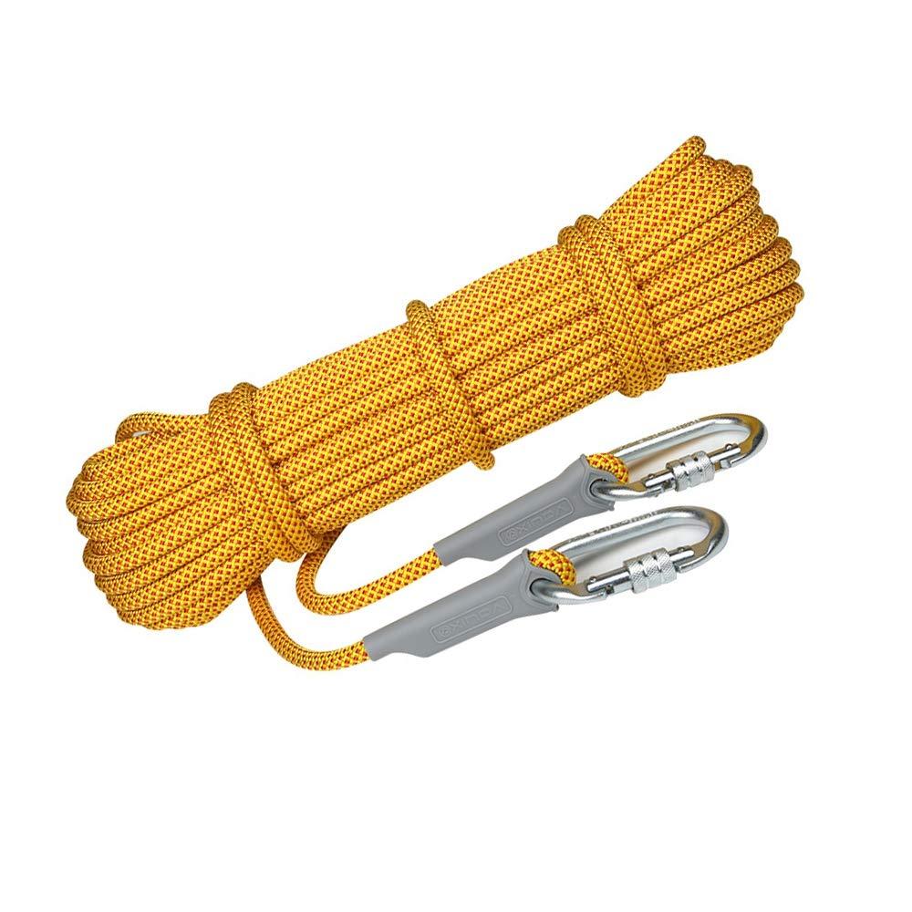 B Corde Escalade pour, 10.5MM Corde De Sécurité Sauvetage Cordette De Camps Sport Sangle Ficelage Corde Auxiliaire Charge Max 25KN 100m