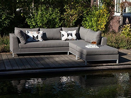 sicilie lounge gartenm bel gartenset 3 teilig nanotex grau rechts g nstig kaufen. Black Bedroom Furniture Sets. Home Design Ideas