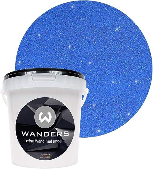 Wanders24 Effet Brillant 1 Litre Bleu Doré Peinture Murale Avec Paillettes Peinture Murale Effet Pailleté Peinture Murale à Effet