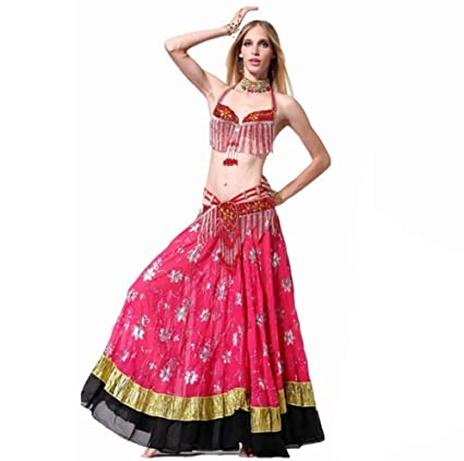 412f069fb549 Amazon.com : Belly Dance mixed colors mosaic fish tail skirt suit ...
