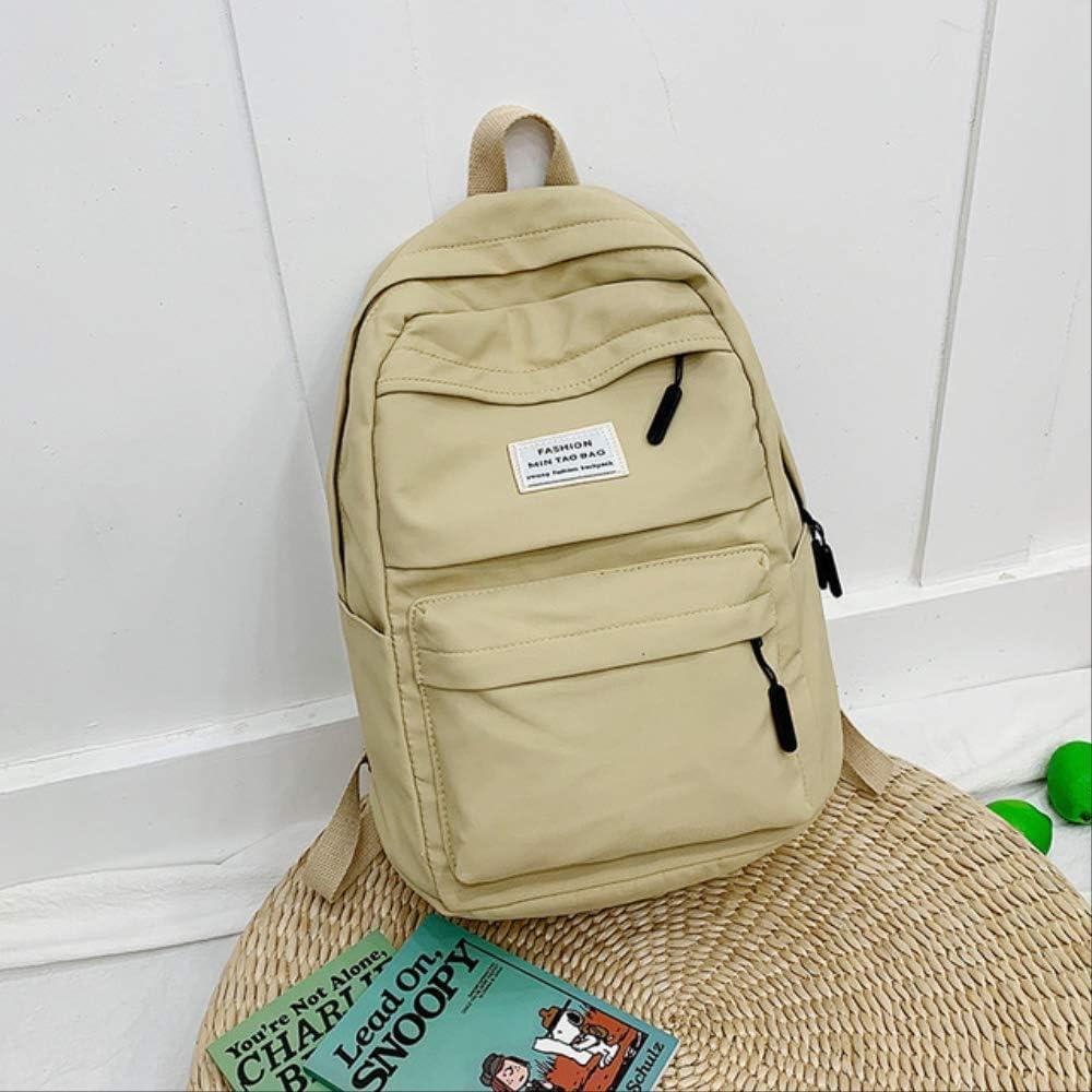 LYYUO Nylon Backpack Women Backpack Large Shoulder Bag for Teenage Girl Student School Bag Bagpack Rucksack Black