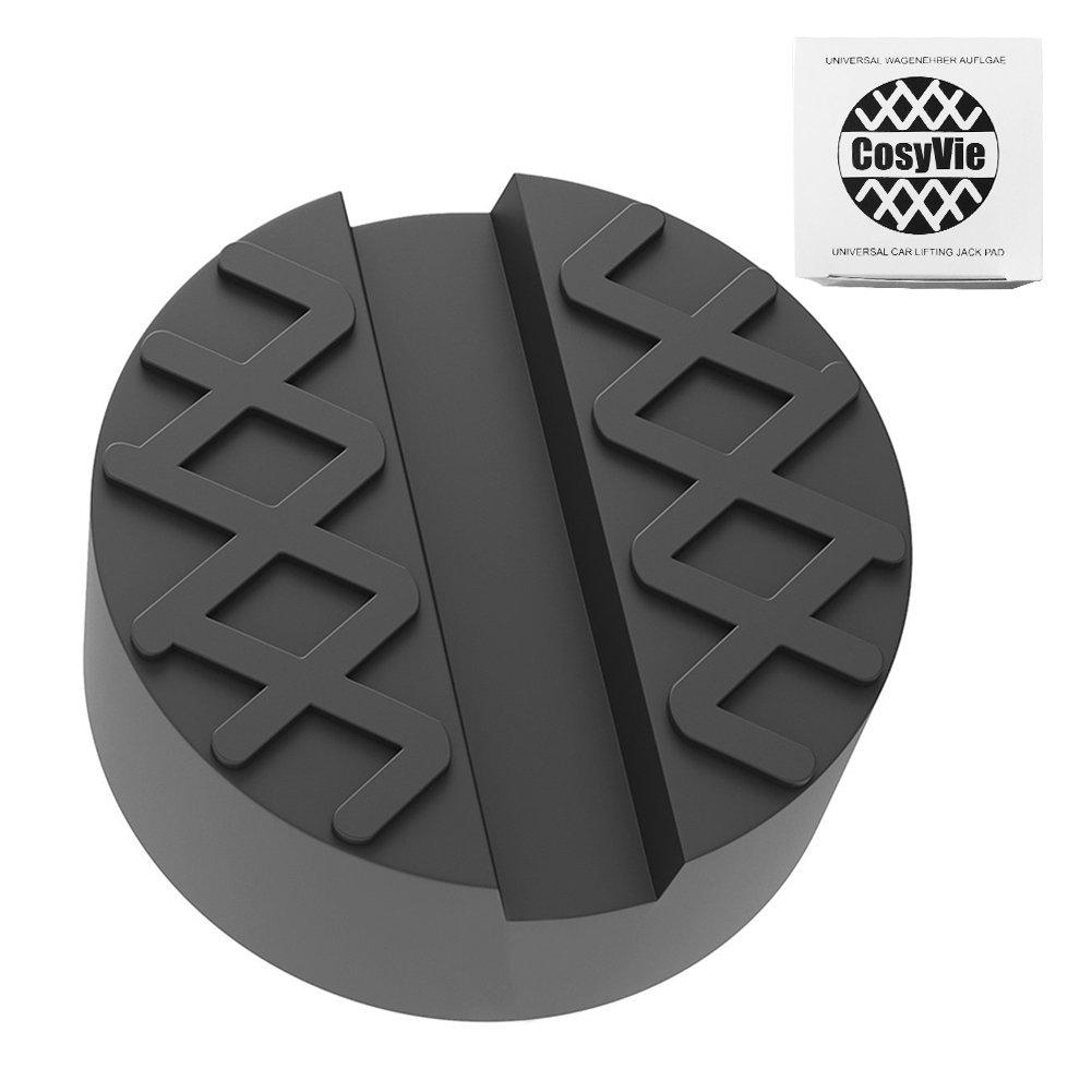 CosyVie Bloque de Goma para Gato (65x35mm) Universal Protector con Ranura Elevador de Coche (Negro)