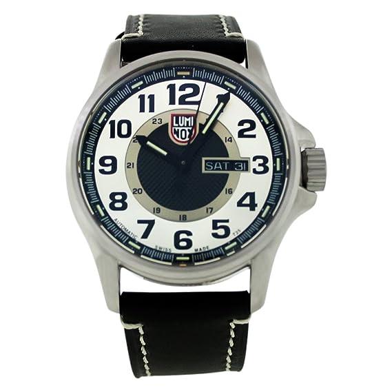 Luminox 1809 - Reloj de Pulsera Hombre, Piel, Color Negro: Luminox: Amazon.es: Relojes