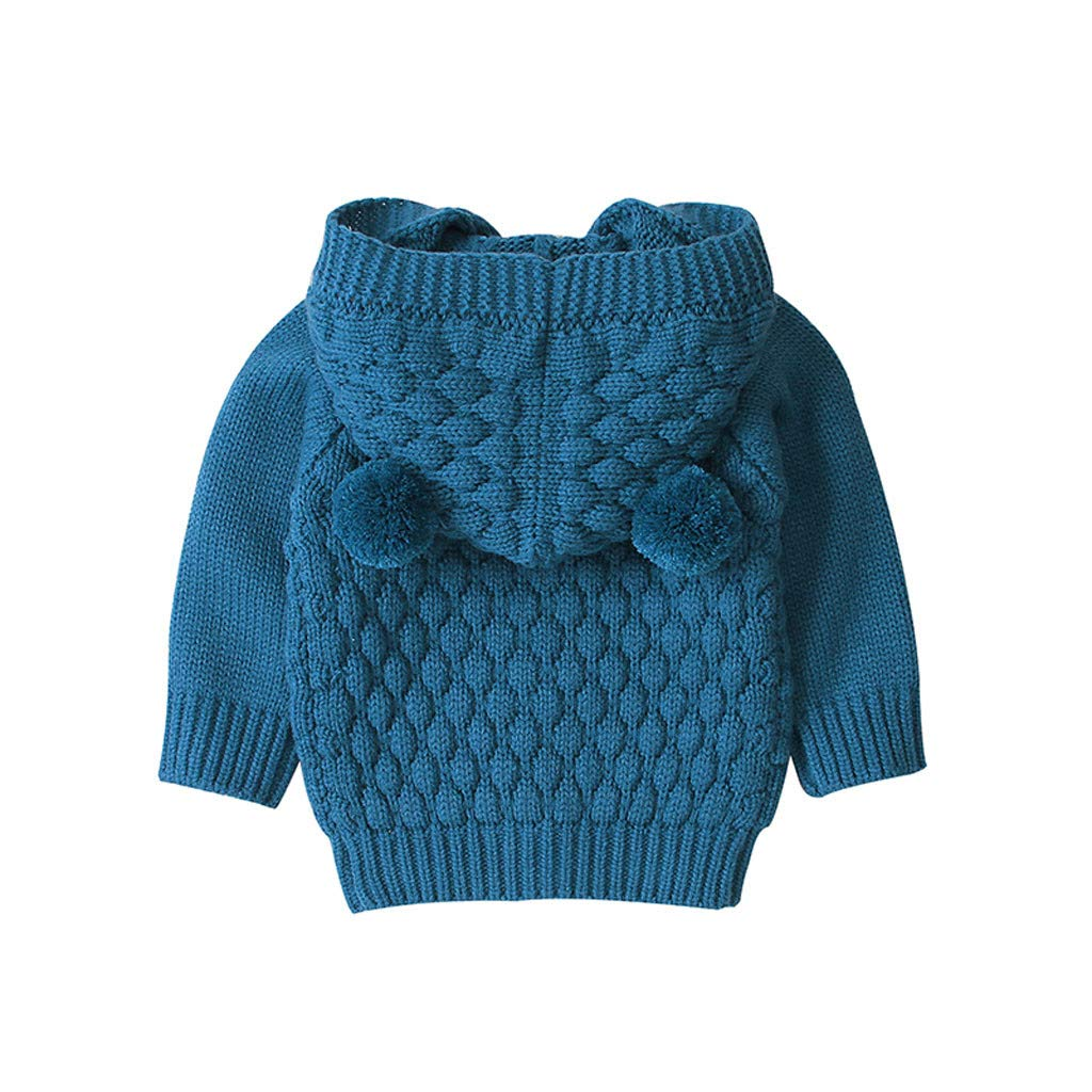 Lanhui Infant Baby Girl Boy Winter Sweater Warm Warm Knit Coat Comfortable Soft Outwear Hooded Sweater