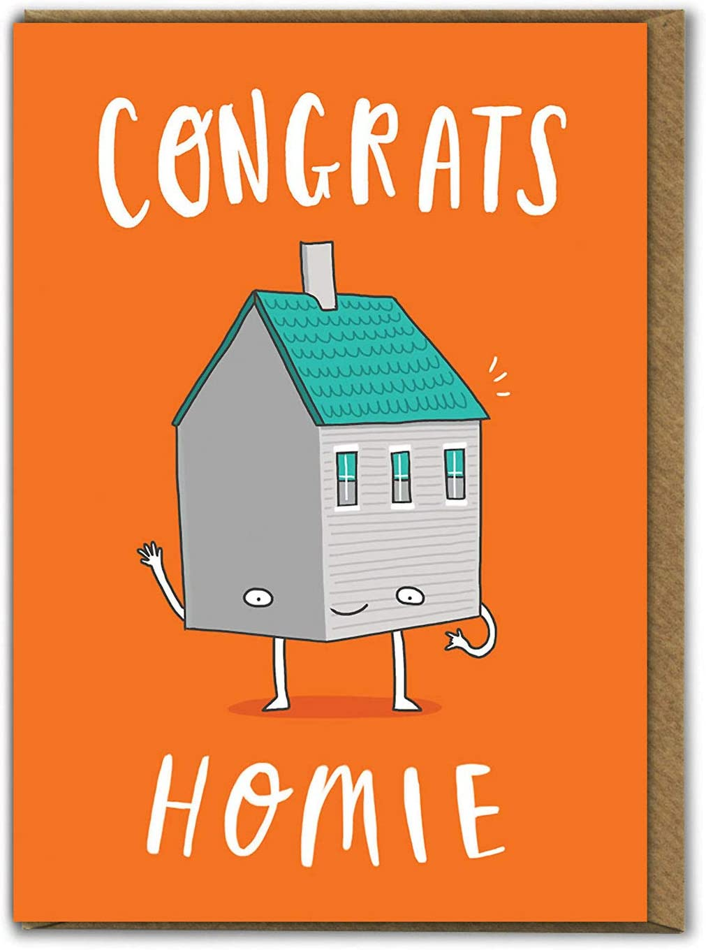 Funny Humorous 'New Homie' New Home Card