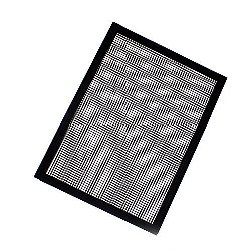 2019 New-BBQ Grill Mat, Non Stick Barbecue Grill Sheet Liners Teflon Grilling Mats Reusable Grill Accessories Use on Gas, Charcoal, Electric Barbecue (A)