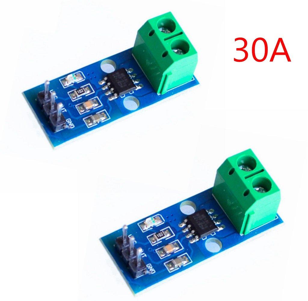 ihaospace 2/pcs ACS712/ACS712ELC Current Sensor Module 5/A measu Anillo Range Range Current Sensor for Arduino ACS712 5A