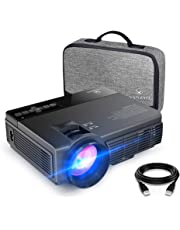 VANKYO LEISURE 3 (Upgraded Version) 2400 LUX LED Portable Projector with Carrying Bag, Video Projector with 170'' Display and 1080P Support, Compatible with PS4, HDMI, VGA, TF, AV and USB with HDMI Cable (Black)