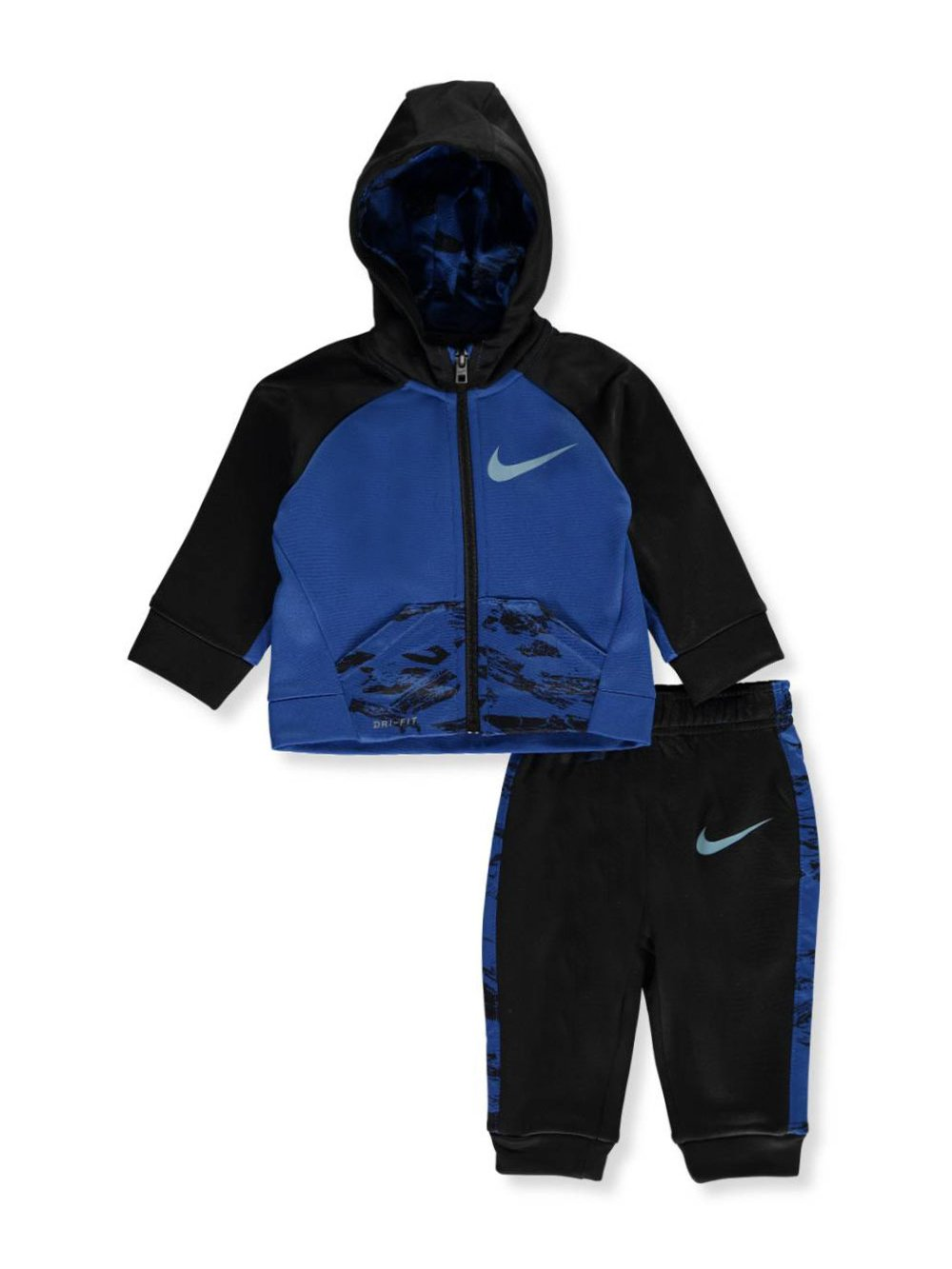 NIKE Baby Boys' Therma Dri-Fit 2-Piece Tracksuit - Blue Jay, 6-9 Months