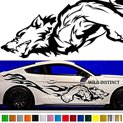 Wolf car sticker car vinyl side graphics wa60 car vinylgraphic car custom stickers decals 【8