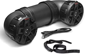 BOSS Audio Systems ATVB6.5R ATV UTV Weatherproof Sound System - 6.5 Inch Speakers, 1 Inch Tweeters, Built-in Amplifier, Bluetooth, Rechargeable Battery, Easy Installation for 12 Volt Vehicles