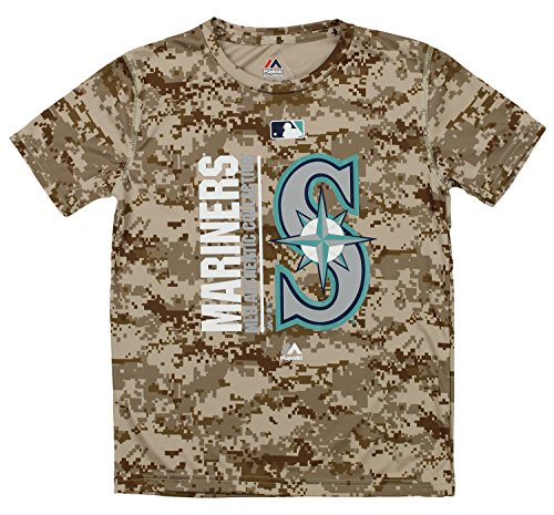 Outerstuff MLB Youth's Short Sleeve AC Team Icon Tee, Seattle Mariners Small (8)