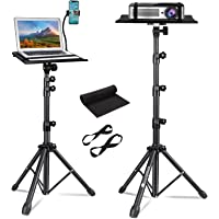 FOUR UNCLES Projector Tripod Stand - Laptop Tripod Adjustable Height 23 to 63 Inch DJ Mixer Stand Up Desk The Outdoor…