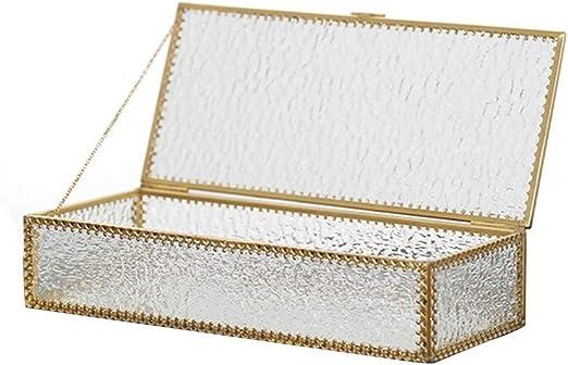 Joyería de la caja de joyería caja de regalo Patrón de encaje Diamante Joyero Cristal Geométrico Cuadrado Joyero Caja de almacenamiento Joyero Caja exhibición de joyería organizador del almacenaje: Amazon.es: Hogar