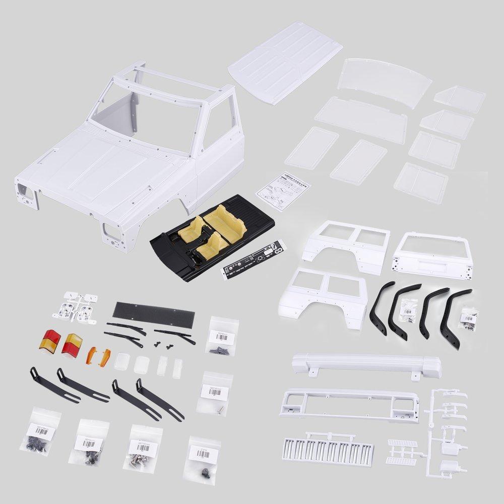 Oyamihin AX-313 12,3 Pollici   313mm Corpo Guscio Passo Kit Fai da Te per 1 10 RC Truck Crawler Axial SCX10 e SCX10 II 90046 90047