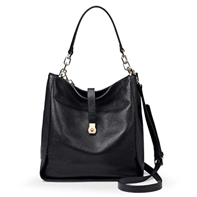 5e6aac9a0fef4 Amazon.com: Genuine Leather Shoulder Handbags for Women【Full-grain  Cowhide】Supple Top-handle Bags Soft Hobo Bags Satchels: Clothing
