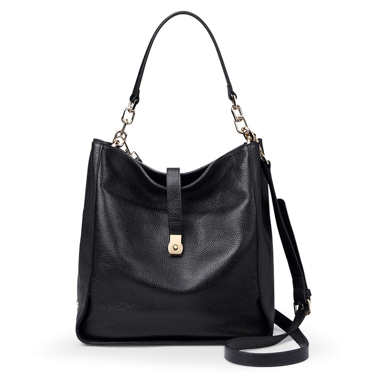 Genuine-Leather-Handbags-for-Women-Soft-Hobo-Bag-Supple-Bucket-Bag-Totes-Shoulder-Handbags