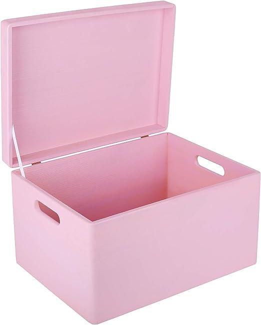 Creative Deco XXL Rosa Caja de Madera Grande para Juguetes | 40 x ...