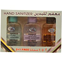 Cool & Cool Hand Sanitizer, Assorted Scents, Pack of 3 (3 x 60ml)