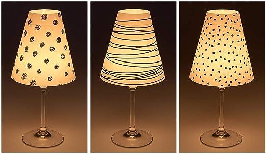 Cuadros Lifestyle Candle LightsParalume per bicchieri di